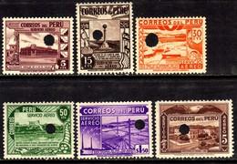 01745 Peru Aéreos 49/50+53/54+56+60 Provas N - Peru