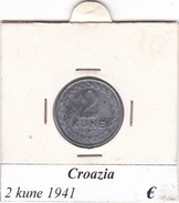 CROAZIA  2 KUNE 1941  COME DA FOTO - Croatia