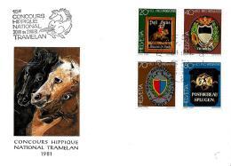 31046 - Enveloppe D'après Dessin Erni - Oblit Spéciale Concours Hippique Tramelan 1981 - Postmark Collection