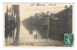 CPA 91 CORBEIL Inondé 1910 Rue Feray - Corbeil Essonnes