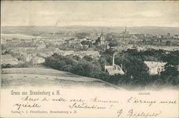 AK Brandenburg Havel, Gesamtansicht, Altstadt, O 1901, Ecken Mit Druckstellen Vom Album (3566) - Brandenburg