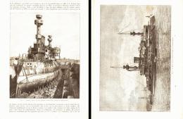 "Le "" HOCHE "" CUIRASSE D'ESCADRE FRANCAIS  1890 - Militari"