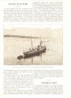 "LE TORPILLEUR DE HAUTE MER  "" L' AGILE ""   1890 - Militaria"