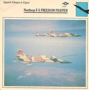 Fiches Illustrées - Caractéristiques Avions - Appareil D'attaque - Northrop F-5 FREEDOM FIGHTER - U.S.A. - (13) - - Aviation