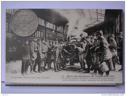 PARIS - GREVE DES CHEMINOTS DE L´OUEST ETAT (1910) - REPRODUCTION - 4 - UNE CUISINE ROULANTE DANS LA GARE ST LAZARE - Métro Parisien, Gares