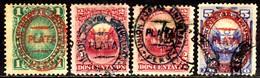 02664 Peru 26+27+27a+28 Escudo Lhama Com Sobrecarga U - Peru