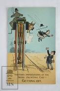 Old Illustrated Postcard - Comic - Humorous Scene - Visitors Impressions Of The Irish Jaunting Car - Getting Off - Ilustradores & Fotógrafos