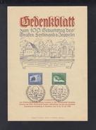 Dt. Reich Gedenkblatt Zeppelin 1938 - Briefe U. Dokumente