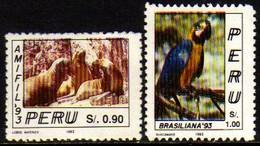 03229 Peru 997/98 Lobo Marinho Tucano Animais Nn - Peru