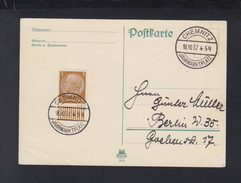Dt. Reich PK 1937 Chemnitz Jahrmarktplatz - Briefe U. Dokumente