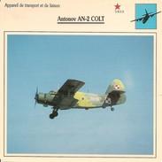 Fiches Illustrées - Caractéristiques Avions - Appareil De Transport - Antonov AN-2 COLT - U.R.S.S. - (28)  - - Aviation