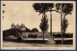 35 COMBOURG Vue Générale Du Château Et De L'étang - Animée - Combourg