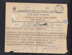 Serbia Telegramme 1941 - 1931-1941 Königreich Jugoslawien