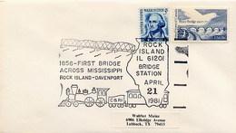 USA - RAIL -  ROCK ISLAND - 1856 FIRST BRIDGE ACROSS MISSISSIPPI - ROCK ISLAND-DAVENPORT - Ponti