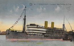 Paquebot Albertville, Compagnie Belge Maritime Du Congo - Carte L.V. N° 26 Colorisée - Paquebots