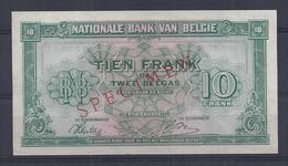 10 Frank - Francs = 2 Belgas  - Type Londen  M 14  Quasi Nieuw -  Presque Neuf - Met Opdruk SPECIMEN - [ 8] Fictifs & Specimens