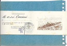 BATEAUX DE GUERRE .  INVITATION DU CAPITAINE DE FREGATE DU MONTCALM LE 2 AVRIL 1945 - Guerre