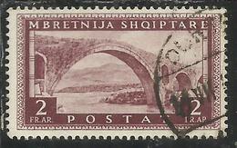 ALBANIA 1939 - 1940 POSTA ORDINARIA 2 F USATO USED OBLITERE' FIRMATO SIGNED - Albania