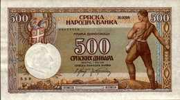 SERBIE 500 DINARA Du 1-5-1942  Pick 31  AU/SPL - Serbie