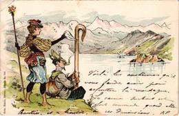 Très Belle Carte Précurseur Expédiée De Chamonix Très Rare - Couples