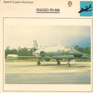 Fiches Illustrées - Caractéristiques Avions - Appareil De Guerre électronique - PIAGGIO PD-808 - ITALIE - (32) - - Aviation
