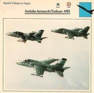 Fiches Illustrées - Caractéristiques Avions - Attaque - Aeritalia-Aermacchi/Embraer AMX - BRESIL - ITALIE - (33) - - Aviation