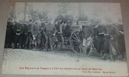CPA 2me Régiment De Chasseurs à Pied Aux Manoeuvres Au Camp De Beverloo +/- 1900 - Régiments