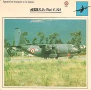 Fiches Illustrées - Caractéristiques Avions - Appareil De Transport - AERITALIA (Fiat) G-222 - ITALIE - (34) - - Aviation