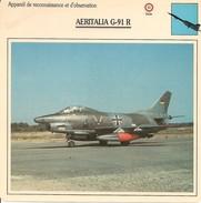 Fiches Illustrées - Caractéristiques Avions - Appareil De Reconnaissance - AERITALIA G-91 R - ITALIE - (35) - - Aviation