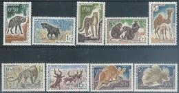 Mauritania   1963  9 Diff Wildlife To The 30fr MH*  2016 Scott Value $5.85 - Mauritania (1960-...)