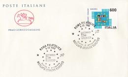 1992 ITALIA - 10 MERCATO COMUNE EUROPEO - FDC CAVALLINO - ANNULLO ROMA FILATELICO - 6. 1946-.. Repubblica