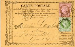 NEAUPHLE LE CHATEAU   RAMBOUILLET TYPE CERES  1874 - 1871-1875 Cérès