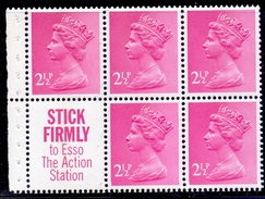 Great Britain  1972 SG X851L (DP5) 2,1/2 P X 5 Stick Label Good Perf. - 1952-.... (Elisabetta II)