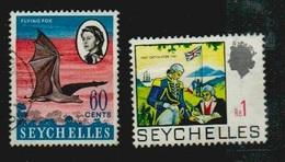 Seychelles, Seychellen, 2 Gestempelte Werte, Siehe  Scan - Seychellen (...-1976)