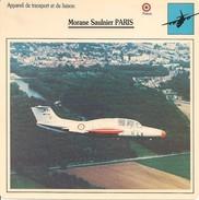 Fiches Illustrées - Caractéristiques Avions - Appareil De Transport Et De Liaison - Morane Saulnier PARIS - FRANCE -(45) - Aviation