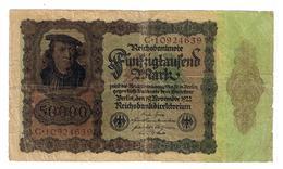 Billet Allemand  1922  De   50000   Marks - Germany