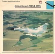 Fiches Illustrées - Caractéristiques Avions - Chasseur De Supériorité Aérienne - Dassault-Breguet 2000C - FRANCE - (48) - Aviation