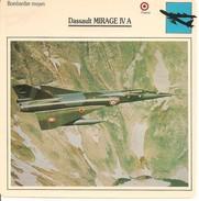 Fiches Illustrées - Caractéristiques Avions - Bombardier Moyen - Dassault MIRAGE IV A - FRANCE - (49) - Aviation