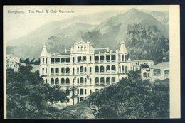 Cpa D' Asie Hongkong The Peak & Club Germania   ....  Hong Kong   GX54 - Chine (Hong Kong)