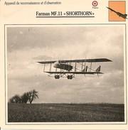 """Fiches Illustrées - Caractéristiques Avions - Appareil De Reconnaissance - Farman MF.11 """"SHORTHORN"""" - FRANCE - (52) - Aviation"""