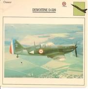 Fiches Illustrées - Caractéristiques Avions - Chasseur - DEWOITINE D-520 - FRANCE - (54) - Aviation