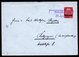 A4595) Dt Post Lothringen Brief Mit Notstempel Sengbusch 21.6.41 - Besetzungen 1938-45