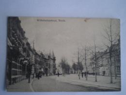 Breda // Wilhelminastraat (geanimeerd) 1928 Zegel Ruw Verwijderd - Breda
