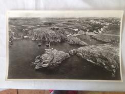 85- ILE D'YEU- LA COTE, LE PORT DE LA MEULE  DOCUMENTATION AERIENNE (LAPIE) GRANDE PHOTO, - Photos