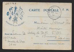 Carte F.M.   Honneur Aux Alliés  1940 , éditon Grimoin - Tarjetas De Franquicia Militare