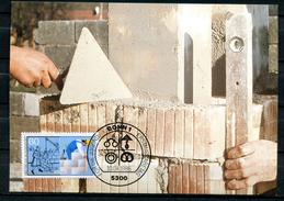 "Germany,Allemagne 1986 Maxicart,MC Mi.Nr.1275 ""Handwerksberufe,Maurer,Jugendmarke"" 1MK Used - Factories & Industries"