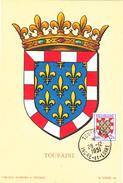 Carte-Maximum FRANCE N° Yvert 902 (TOURAINE) Obl Sp Tours (Ed Louis) - 1950-59
