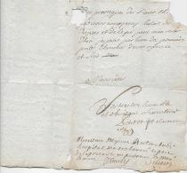 DIJON 1711, PETITOT, Procureur Du Roy à Dijon, LAS Adressée Au Procureur Du Roi à GEX. LINEAIRE à Identifier
