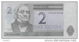 2006 Estonia 2 Kroon Banknote.Crisp UNC.Tartu Universit - Estonie