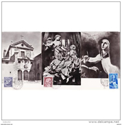 ESTMX1428STV-LFT1428TAROTR.Spain,Espagne,TARJETAS MAXIMAS.Pintura.ARTE,,Religioso.REFORMAS TERESIANAS.1962 (Ed 1428/31). - Arte